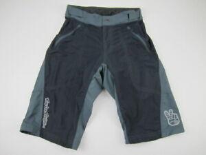 Mens 30 Troy Lee Design Skyline gray black MTB padded baggy cycling shorts
