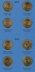 20 UNCIRCULATED PRESIDENTIAL DOLLARS IN ALBUM- 2012 THROUGH 2020- ALL D MINTS