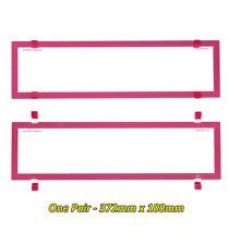 VIC SA WA and QLD Slimline/Premium Pink Number Plate Covers Clear Perspex