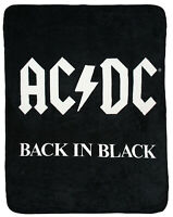 AC/DC Back In Black Super Soft And Cuddly Fleece Plush Throw Blanket