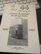 My First Photographs of London Trams & Buses - Peter Davey - transport