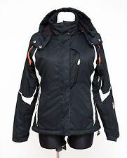 Para mujer Chaqueta de esquí de nieve backswing Acolchado Con Capucha Negra Size UK 10 EUR 38 Exc