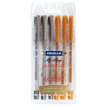 Excellent Quality Gold & Silver Glitter Gel Pens 1.0mm Swiss Tip.