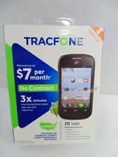 Tracfone ZTE Valet Triple 3x Minutes Prepaid Cell Phone Android Smartphone NEW