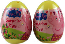 Set Of 2 Peppa Pig Surprise Gift Egg - Toy Sticker And Sweet - Party Bags