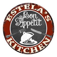 CPBK-0736 ESTELA'S KITCHEN Bon Appetit Chic Tin Sign Decor Gift Ideas