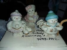 Lenox Porcelain Figurines Snowmen & Snowladies 4 inch large