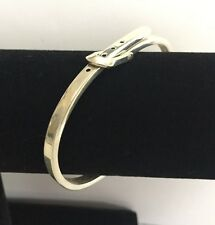 VINTAGE 925 STERLING SILVER ADJUSTABLE BANGLE BELT BRACELET