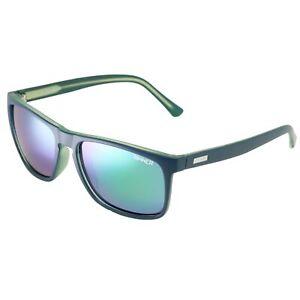 Sinner Oak Matte Dark Blue Green CX Sintec Icy Green Mirror Lens Sunglasses