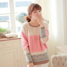 Fashion Women Autumn Winter Warm Knitted Pullover Sweater Knitwear Tops AB