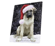 Christmas Anatolian Shepherds Dog Tempered Cutting Board Large Db1468
