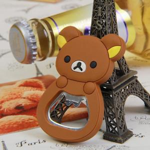 Bear Charms Beer Bottle Opener Kitchen Tool Fridge Magnet Ornaments Decorations