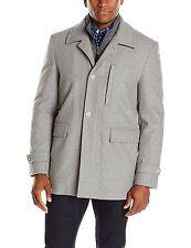 Nick Graham Men's Wool Coat Upper West Side Wool Bib Front Car Coat Jacket