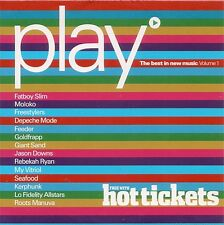 """Play - The Best In New Music Volume 1 - CD Album - Came With """"Hot Tickets"""""""