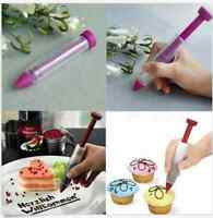 AZ:New Silicone Plate Pen Cake Cookie Pastry Cream Chocolate Decorating Syringe