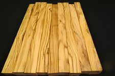"""OLIVE WOOD LUMBER 1"""" X 12"""" TURNING BLANKS REEL SEATS WANDS PENS!!!!!!"""