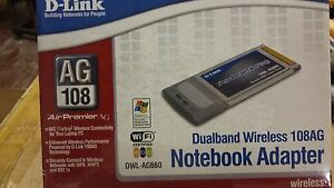 BRAND NEW DLink 802.11A/G Dualband Wireless Notebook Adapter 108AG DWL-AG660