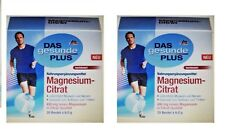 2x Pack Das Gesunde Plus Magnesium Citrate, 40x 6g pouches. *FROM GERMANY*