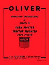 Oliver 4 Corn Master Corn Picker Operators Manual
