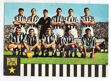 CALCIO  JUVENTUS  1965/66  CARTOLINA  GM  FORMAZIONE SCHIERATA  NON  VIAGGIATA