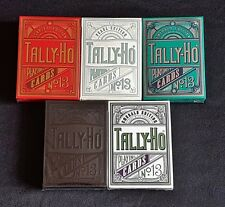 Tally Ho playing cards (5 Deck Gilded Edition Set) from Jackson Robinson RARE