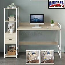 4 Tier Computer Desk Storage Rack Laptop Table Study Home Bookshelf Workstation