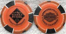 Sierra Steel Harley-Davidson® in Chico, CA Collector Poker Chip Orange/Black NEW