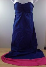 NEW Tommy Bahama Tube Top Maxi Dress Bandeau Swim Casual Cover Up Blue Pink NWOT