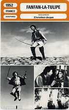 Movie Card. Fiche Cinéma. Fanfan La Tulipe (France) 1952 Christian-Jaque