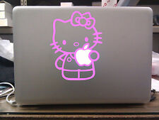 "Hello Kitty Holding Apple Cute Decal MacBook Vinyl Sticker for 13"" 15"" 17"""
