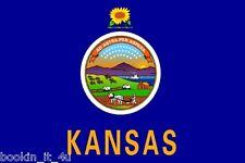 ***KANSAS VINYL STATE FLAG DECAL / STICKER***