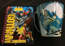 Gotham Guardians Blue Batman Tin Pail & Mini Notebook Set