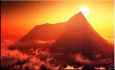 Caja grande de lienzo Arte impresionante montaña en las nubes