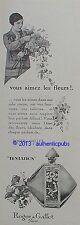 PUBLICITE PARFUM ROGER & GALLET TENTATION FLEUR OEILLET DE 1926 FRENCH AD PUB