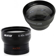 37mm Wide Angle Lens, Macro and Tele Lens fo Olympus PEN E-PL1 E-PL2 E-PL3 E-PM2