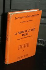 La versión y las mots inglés - Bac Clases altas - Didier & Richard 1954
