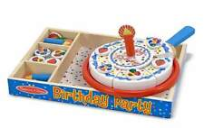 BIRTHDAY PARTY ~ classic wooden play food set ~ Melissa and & Doug ~ #511