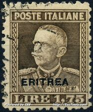 ERYTHREE TIMBRE D'ITALIE DE 1925-27 N° 131 LEGERE OBLITERATION
