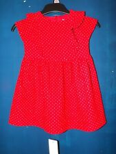 F&F BABY GIRL AGE 12-18 MONTHS RED DRESS NEW