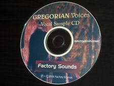 Gregorian Voices Wav/Kont/Hal Vocal Sample Cd |phrases-moods-static& ;movel vowel|
