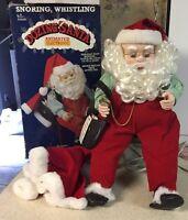 Rare Telco Motionette Motion-ettes Christmas Animated Santa Claus Dozing Santa