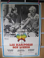 A3371 Las mariposas son libres Goldie Hawn, Edward Albert, Eileen Heckart, Paul