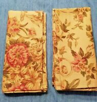 Ralph Lauren Cloth Napkins Guinevere Biege Floral Lot of 2 EUC