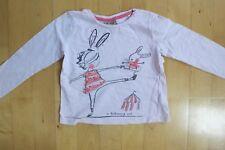 Langarmshirt, Shirt rosa mit Ballerina/Zirkus von Next (Gr. 104)