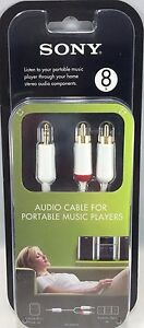 Sony - RK-SMP24T - Audio Cable for Portable Music Players - 8 Ft.