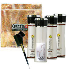 Keratin Cure Chocolate V1 Straightening Strong Hair Treatment Frizz 6 pc Kit 5oz