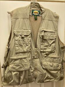 2XL~CABELAS~SAFARI SERIES~Khaki~VENTED~Bird~Hunting~Fishing~Vest~MANY POCKETS!!!