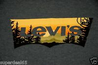 Levi's T Shirt Levis Strauss & Co Batwing Levis Great Outdoors Sunset  Levis