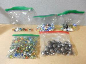 Vintage Marbles & Ball Bearings-Shooters-Clears-Cat Eyes-Solids-Many Colors