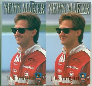 JOHN ANDRETTI 1994 PP Optima Base & Red Hot Parallel ROOKIE Cards # 59